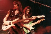 Gary with Steve Vai in Alcatrazz Mach 2