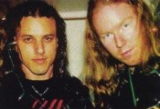 Richard and the late Chuck Schuldiner of Death