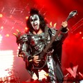 Gene Simmons kicking ass at Alpine Valley, 2012, photo by Todd Reicher for LRI