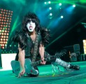 Paul Stanley has a delicious guitar pick for you, live at Alpine Valley, 2012 photo by Todd Reicher for LRI