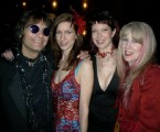 Dennis and his beautiful family, Renee, Chelsea and Cindy photo by Sherri Moon Zombie