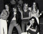 Jackie far left, 1976 with the Runaways T-shirts pic