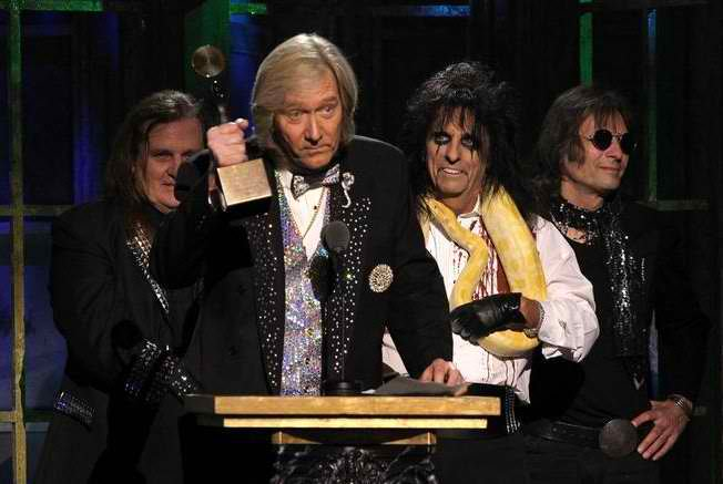 Neal Smith and Alice Cooper Group at the Hall of Fame