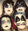 old Muffs as KISS photos, with Melanie Vammen