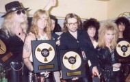 Alan Niven, Great White and Guns at the L.A. Forum the night both bands received awards