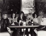 GNR at Canter's Deli original cover photo for Marc Canter's book RECKLESS ROAD