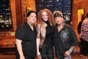 Jack with his smokin hot manager Valerie and his agent Chuck at That Metal Show taping