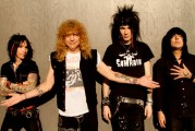 AADLER: L-R, Lonny Paul, Steven Adler, Jacob Bunton and new bassist Johnny Martin