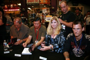 Producer Mike Clink, photographer Jack Lue and Vicky with Chris Weber at the Marc Canter Reckless Road book signing