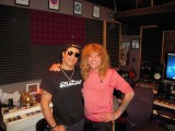Slash and Steven in the studio