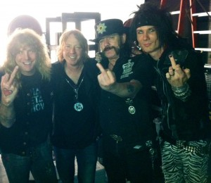 Steven, Jeff Pilson, Lemmy and Jacob