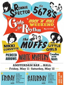 This only looks retro it's actually an upcoming Muffs gig poster for May 11 in Minnesota!!