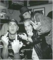 Eminem, Joe C and Kid Rock saying hello
