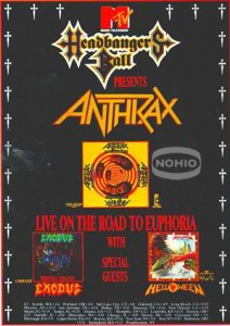 MTV Headbanger's Ball Tour, Exodus, Helloween and Anthrax