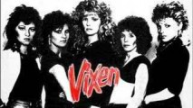 pre-MTV lineup of Vixen with Janet on the far right