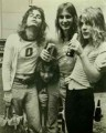 Kelle Rhoads, Kelly Garni and Randy Rhoads at Kelly Garni's B-day party back in the day