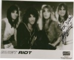 original TOBY management glossy of Quiet Riot signed by Kelly