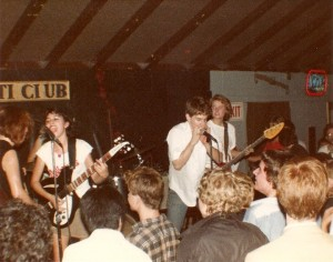 Susanna in the Monkees tee at an early Bangles show in Hollywood at anti club Steve Wynn from Dream Syndicate on harp