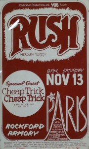 Old Flyer from a Rockford, Il show supporting RUSH