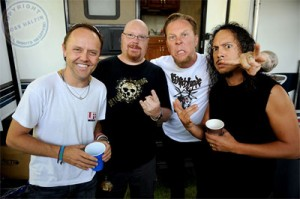Slagel with Metallica by Ross Halfin