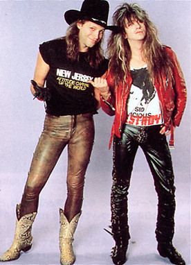 Snake Sabo and Jon Bon Jovi 1989