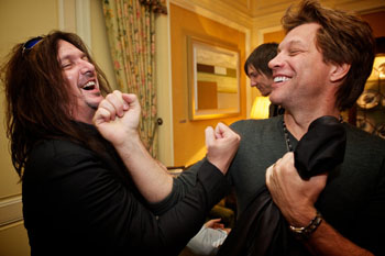 Snake Sabo and Jon Bon Jovi 2011