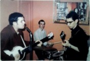 Steve Gene and Stan Singer playing La Bamba at his grandmothers new years eve party 1964