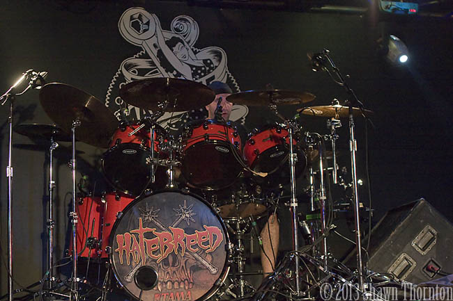 Hatebreed's MATT BYRNE at The Machine Shop 01/26/13