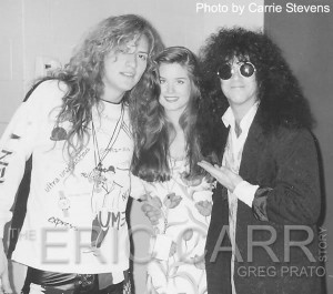 Blas Elias of Slaughter, Carrie and Eric on the Hot In The Shade Tour from Greg Prato's bio on Eric Carr