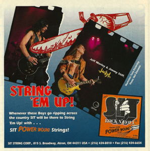 The Jackyl guitar duo's early endorsement with SIT strings!