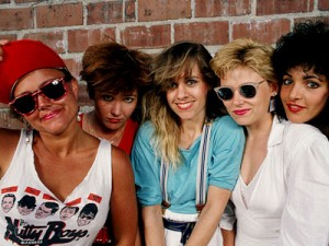 Kathy, second from left in The Go-Go's