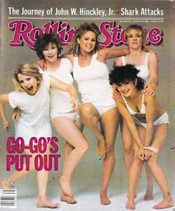Kathy, second from left on the cover of the Rolling Stone