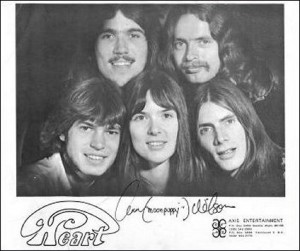 Early promo photo of Heart, prior to Nancy joining