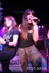 Wanda and Kirsten killin it live, photo by Jack Lue