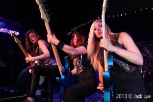 The guitars of The Iron Maidens! photo by Jack Lue