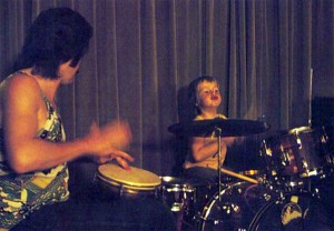 John Bonham looking on as Jason begins his love affair with the drumkit