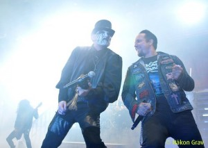 The mighty King Diamond with Volbeat singer Michael Poulson