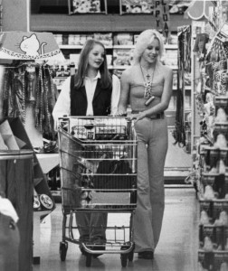 "Cherie and Jodie Foster in a scene from the legendary 70s film ""Foxes"""