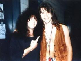 The late great Eric Carr with Mark Slaughter