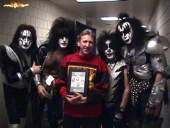 Bill, with the reunited original KISS
