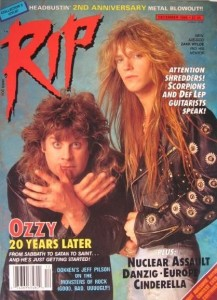 Oz and Zakk back in 88 on the cover of the country's best hard rock mag