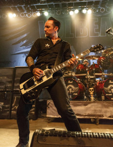 Volbeat's Michael Poulsen live in Madison, Wi photo by Todd Reicher for LRI