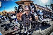 Bob with members of Sin City KISS at KISS Monster Mini Golf's 1 Year Party, photo by Julie Bergonz