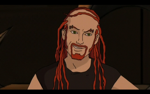 Dethklok drummer Pickles' vocals are of a much more classic rock style than those of Dethklok singer Nathan Explosion (both voiced by Brendon Small)