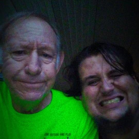 Enjoying 'THE GOOD LIFE' with MY Dad, Omar D. Crafton at Bull Shoals Lake in August 2016.
